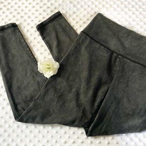 Aerie Black and Gray Wash Leggings